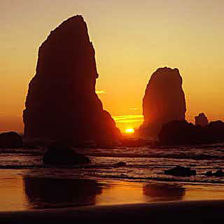 Pacific Ocean Monolith Sunset